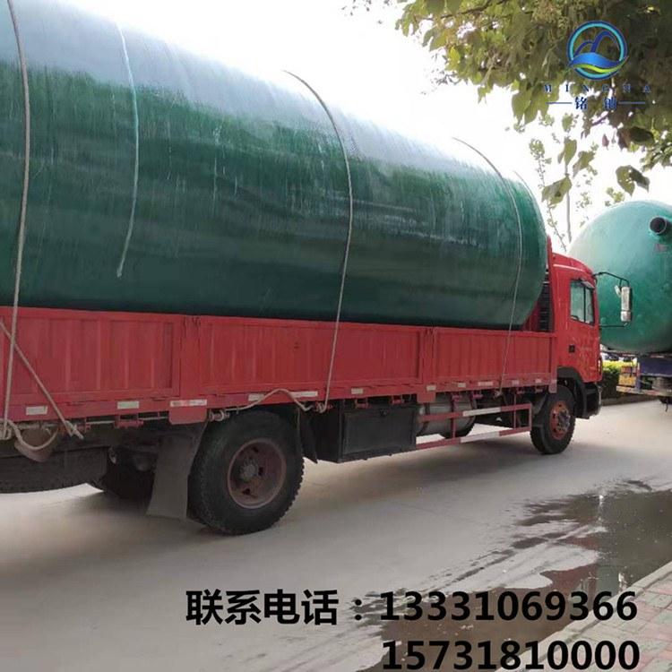 农村旱厕改造污水处理设备 小型三格式模压化粪池 玻璃钢排污蓄水池
