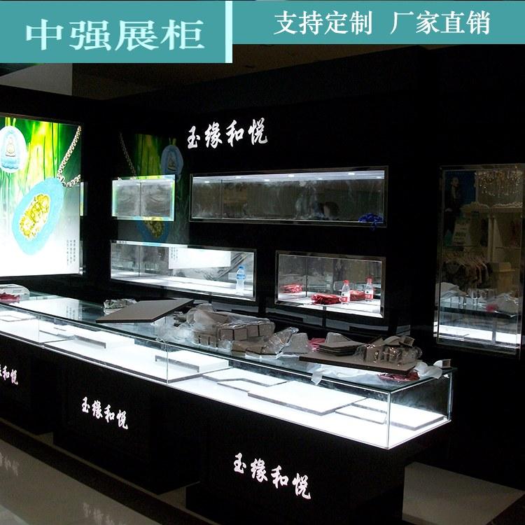 珠宝店展柜厂家 玻璃展柜珠宝化妆品样品柜展示柜 厂家直销 中强