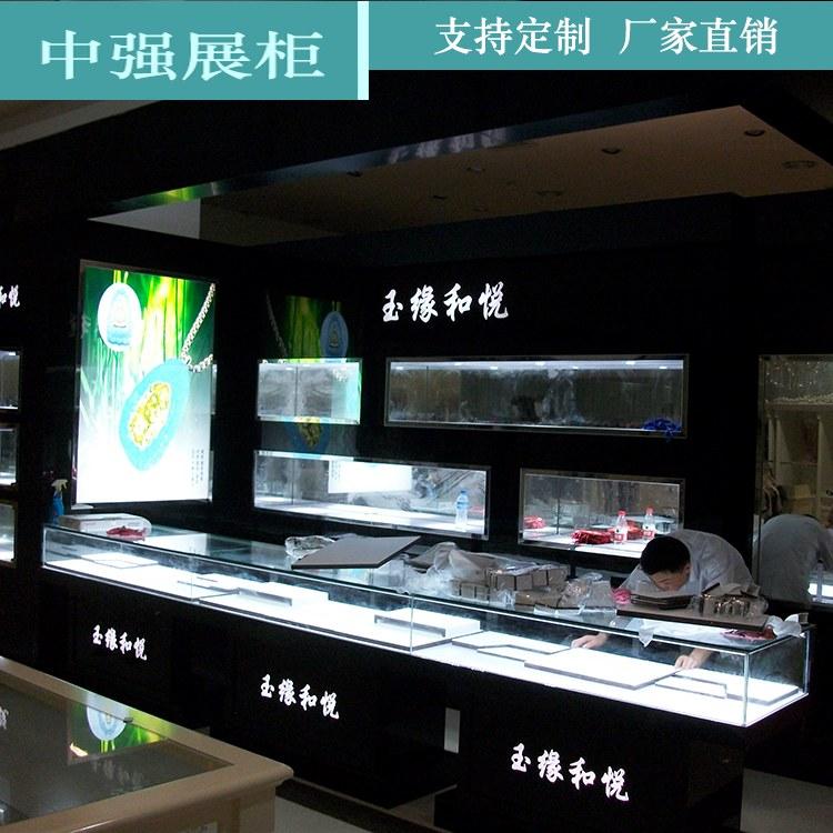 珠宝柜台厂家 精品珠宝展柜陈列柜定制层超大柜展示柜 厂家直销 中强