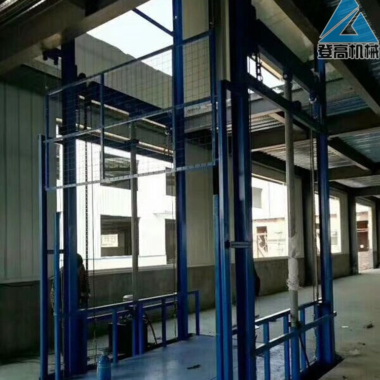 定做厂房液压升降货梯 电动升降平台厂家 链条式货物输送平台3/6/20吨登高品牌