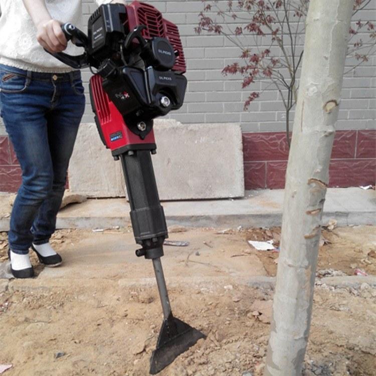 新型汽油动力苗木断根机 小型手提式苗木移栽机 冲击式挖树机