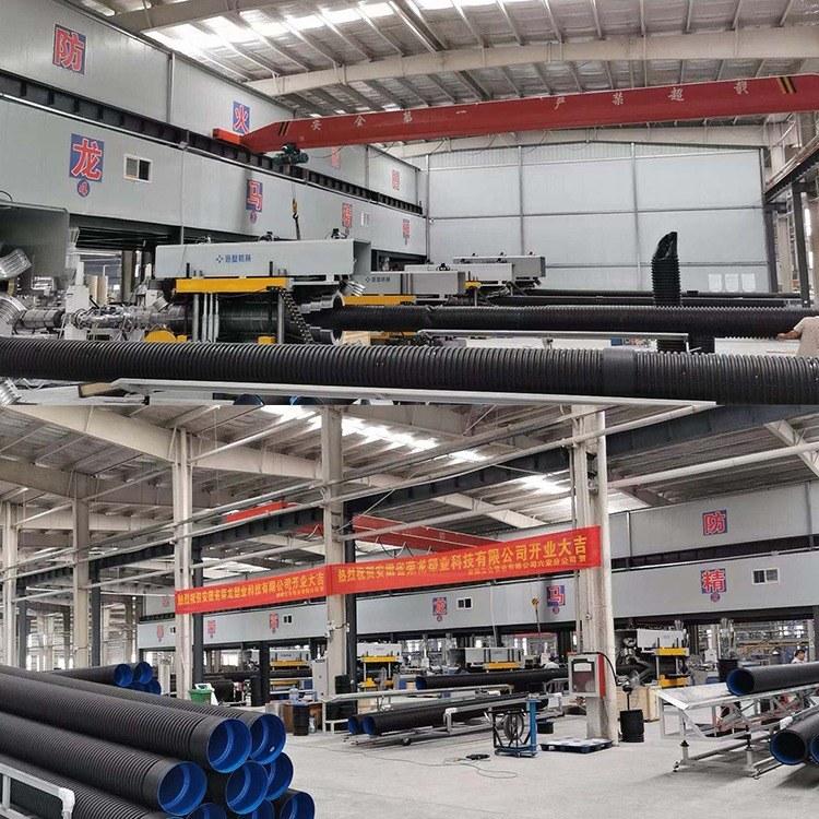 安徽合肥HDPE双壁波纹管厂家直销  DN300SN8国标波纹管