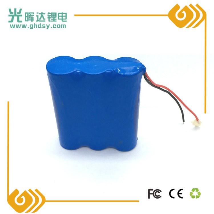 光晖达生产3.7V加保护板三节18650锂电池串联组合6000mA电动工具 电动玩具电池加工定制厂家