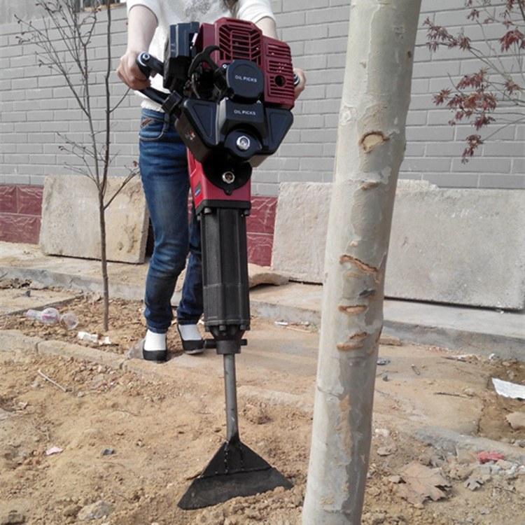 富强 便携式小型汽油挖树机 小树苗种植起树苗机挖树机