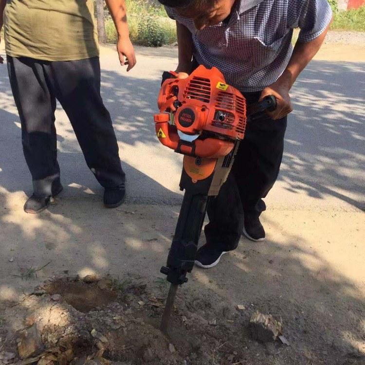 小型便携式汽油挖树机 植树钻眼挖树机 汽油四冲程树木移栽机