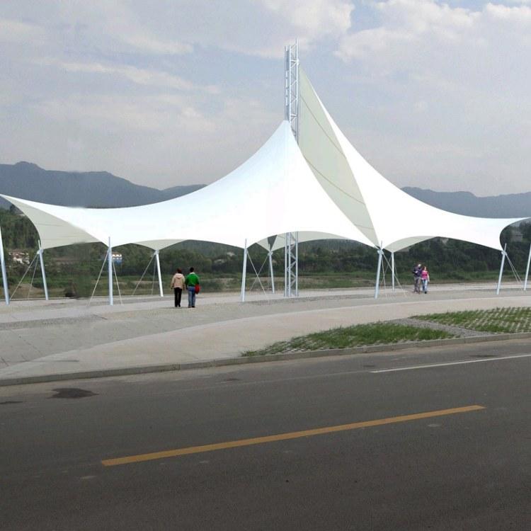鑫京泰 厂家定制膜结构 自行车棚 汽车停车棚 公交站雨棚 钢结构景观工程 量大从优