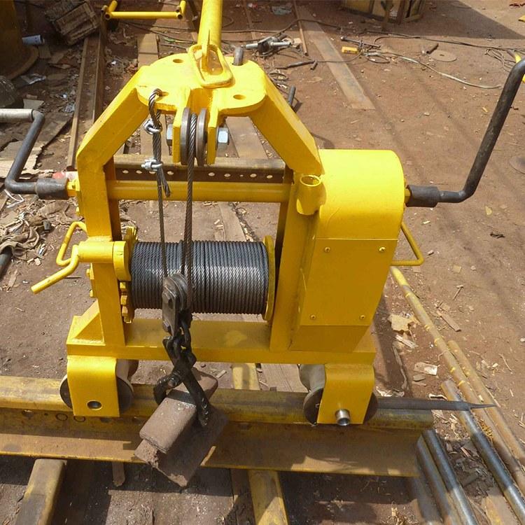 程煤多功能钢轨搬运车 铁路器材搬运车 小型铁路拉运钢轨机直销