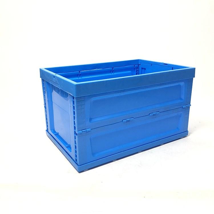 可带盖折叠箱电子汽配件物流箱塑料折叠箱600系列折叠塑料箱