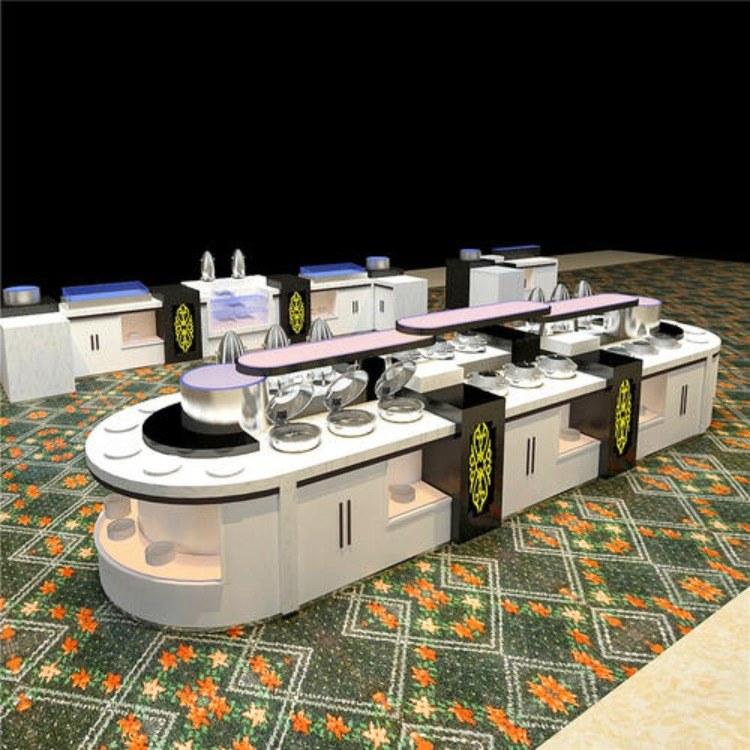 广州尊尚厂家定制布菲台 酒店布菲台 不锈钢自助餐台 价格优惠