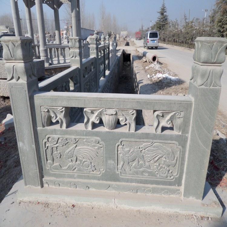 艺博石雕栏板 河道石栏杆 各种石雕护栏 定制