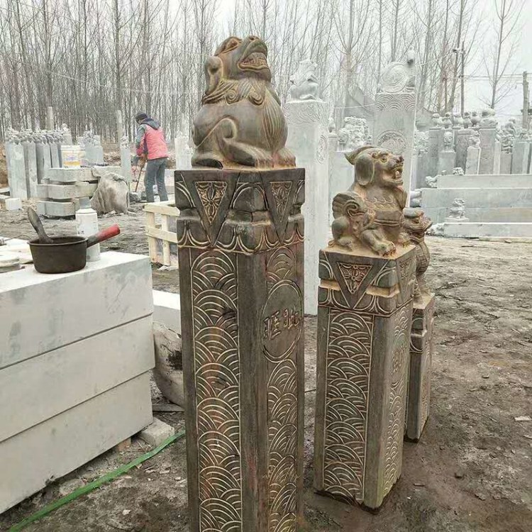 专业定作石雕石柱 各种仿古拴马桩