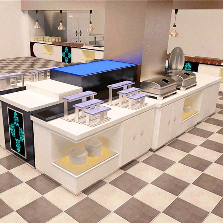广州尊尚厂家定制 布菲台 移动布菲台 自助餐台