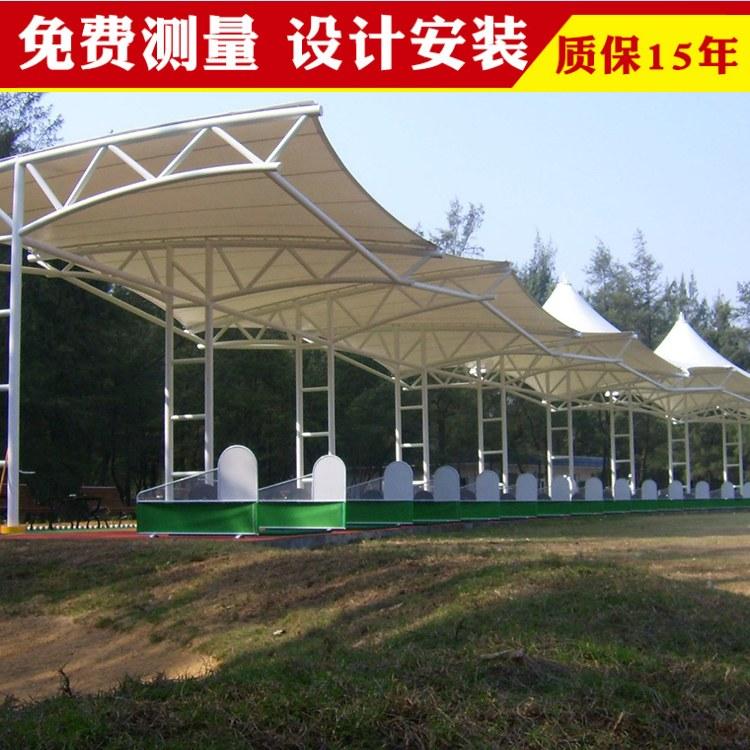 南京膜结构车棚厂家医院膜结构车棚定做众发直销