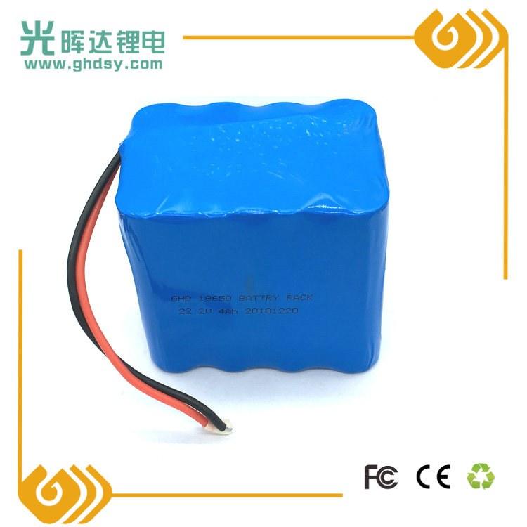 光晖达厂家加工生产18650锂电池组 串联并联加保护板 4000mAh 22.2V 医疗设备电池定制