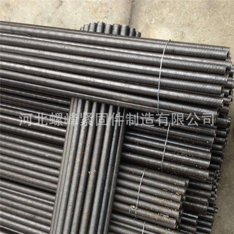 大量供应高强度牙条8.8级丝杠M16-M36拉条1米-3米光伏拉条  螺峰