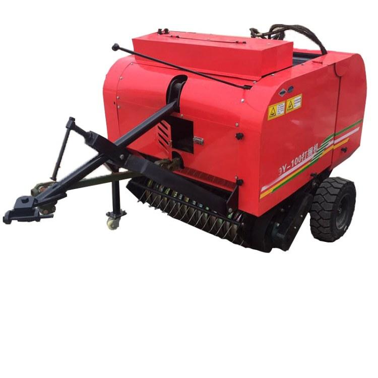 程煤秸秆粉碎打捆机  拖拉机悬浮自动捡拾圆捆机 秸秆自动扎捆机直销