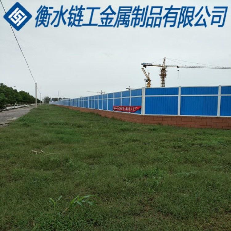 市政彩钢PVC围挡 厂家直销/道路施工/工地施工围挡围墙 定制安装
