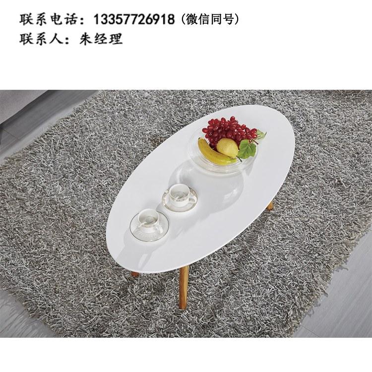 厂家定制现代简约餐厅圆桌洽谈桌接待桌双人位咖啡桌钢架茶几 批发南京办公家具XY-02
