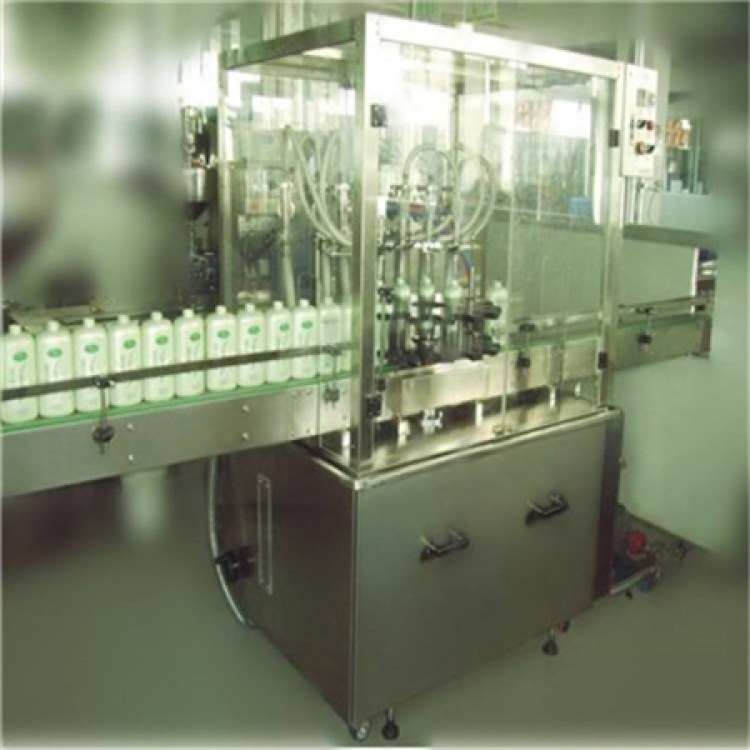 江苏全自动立式直线灌装机 洗衣液洗手液瓶装灌装机 金戈设备厂家