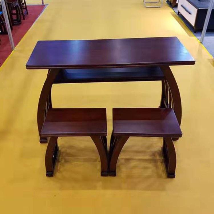 书法桌 双层带桌斗  古典中式实木