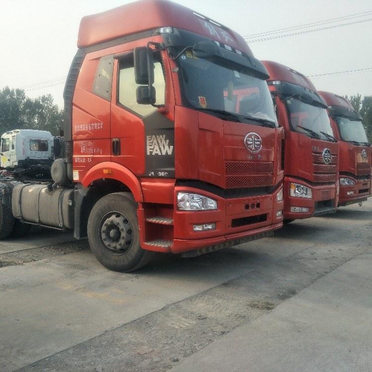 济南哪里有出售二手解放车和J6P牵引车国五