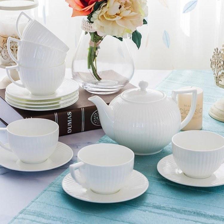 鱼之乐8头茶具陶瓷盘陶瓷碗