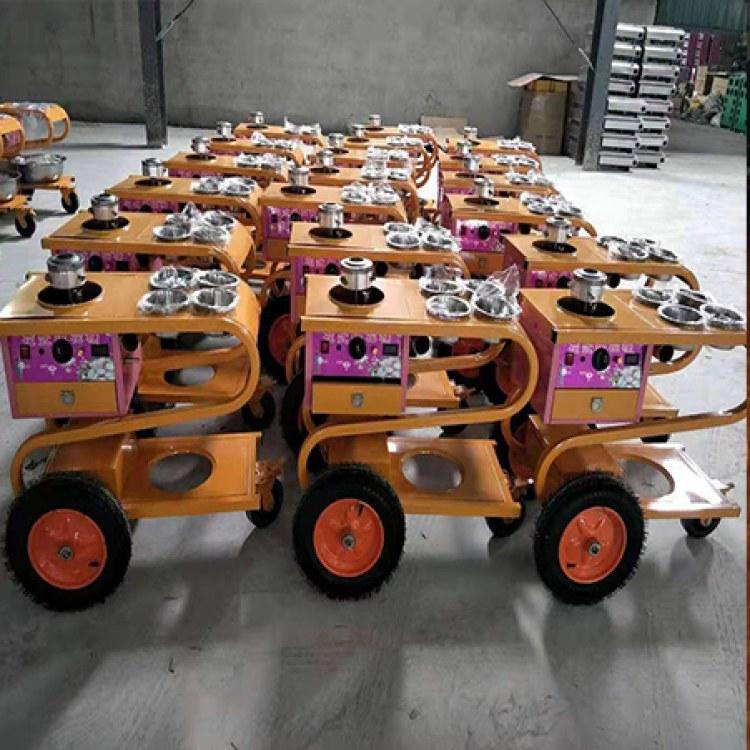 河南嵩禾专注于食品加工机械生产批发 台式花式棉花糖机器  郑州小推车式棉花糖机 厂家直销