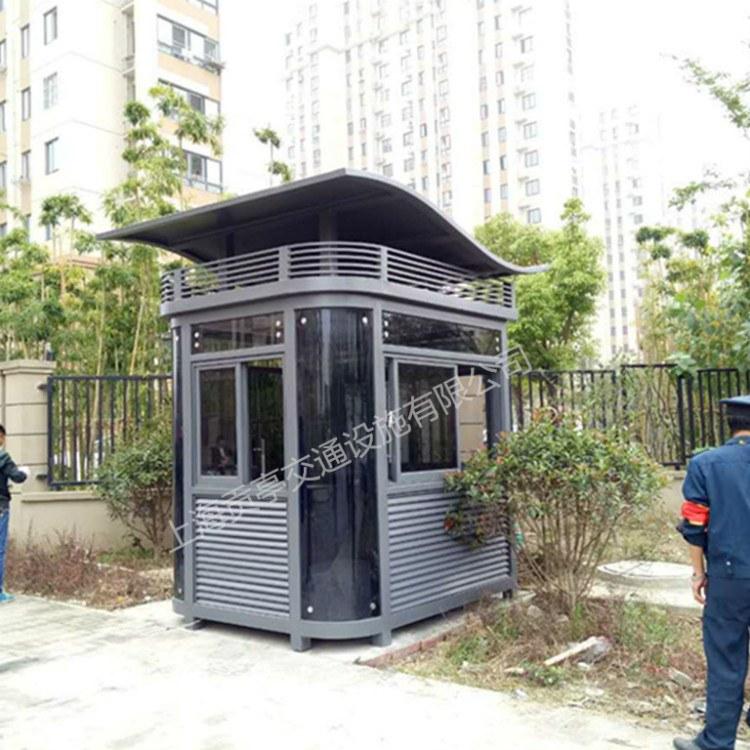 钢结构岗亭 镀锌钢管或槽钢钢结构岗亭价格优惠 欢迎咨询 贡亭
