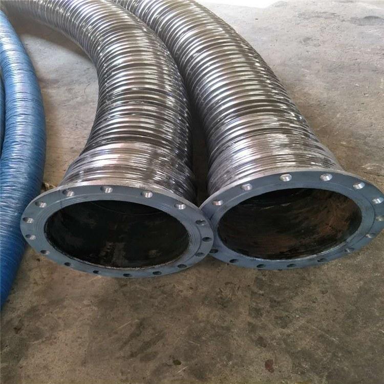 德利伸缩风管 钢丝缠绕伸缩空气胶管 橡胶耐磨波纹排水管直营