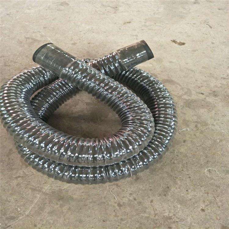 伸缩胶管夹布大口径钢丝伸缩胶管德利沧州除尘环保软管厂家