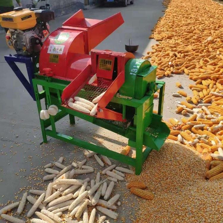 富强 小型谷子水稻脱粒机 大豆脱粒机 稻麦打麦机