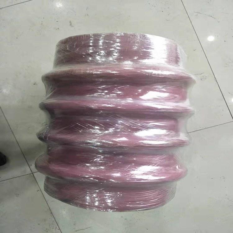 钢丝缠绕伸缩空气胶管 甘肃耐高温风管 耐高压抗压缩橡胶伸缩管