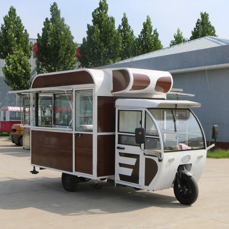 三轮早餐电动小吃车 多功能快餐车 流动油炸车  麻辣烫小吃车 流动美食车