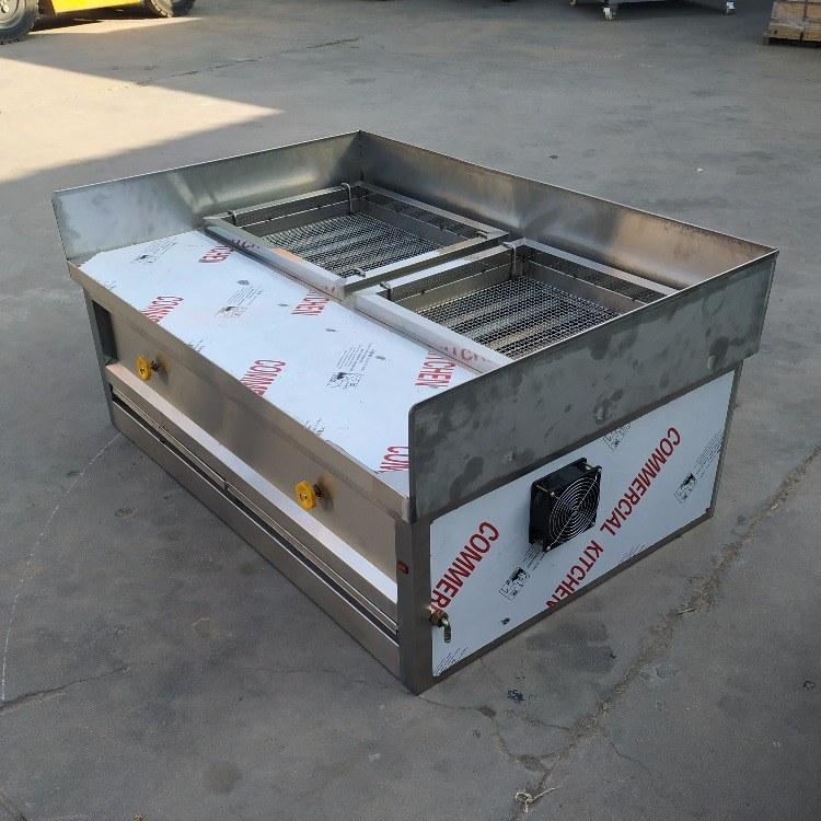 科尼燃气烤炉报价 1.5米款无烟燃气烤炉 厂家直销 无烟环保