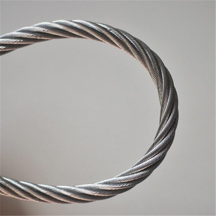 德力批发 耐磨防锈钢丝绳 钢构保温专用镀锌涂塑钢丝绳