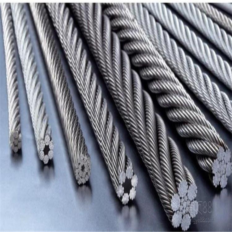 德力供应 大棚保温拉网专用涂塑镀铜钢丝绳 钢构专用钢丝绳