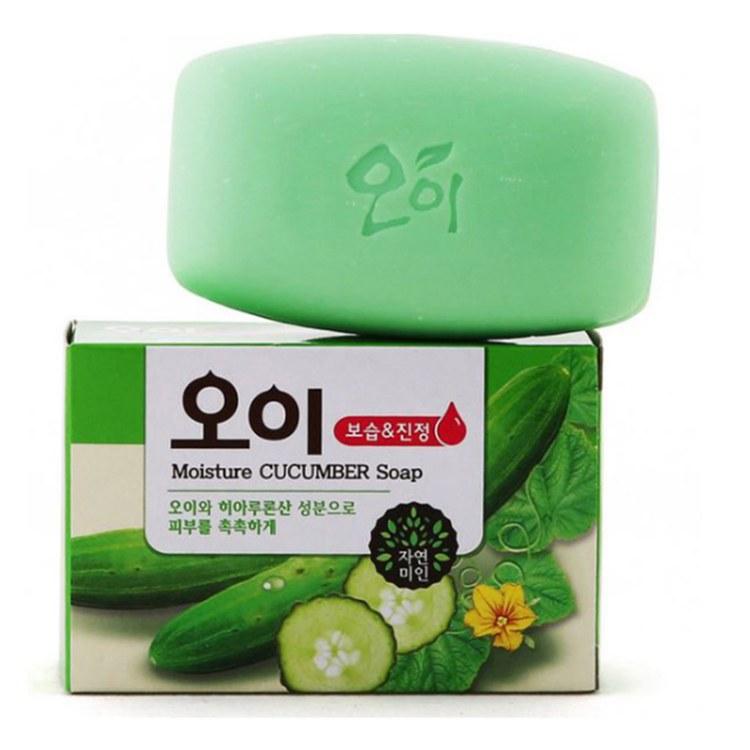 韩国香皂 男女通用清爽小黄瓜皂去黑头收缩毛孔进口香皂100g批发