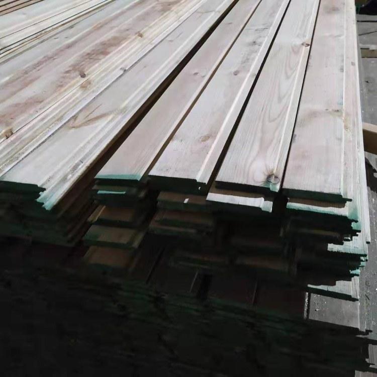 厂家直销碳化木 墙裙用 实木桑拿板