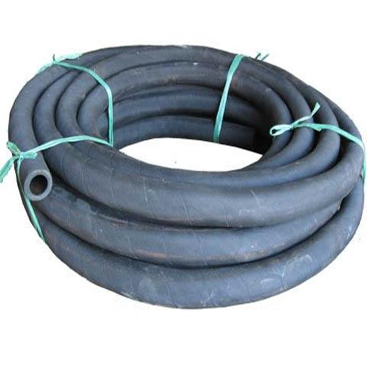 水泵用钢丝骨架缠绕黑色吸排输水胶管 耐磨输水胶管 膨胀胶管