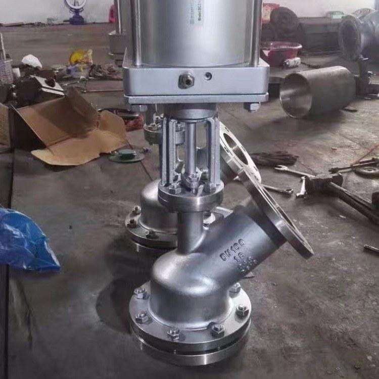 厂家直销 下展式放料阀DN150不锈钢气动放料阀放料阀 反应釜