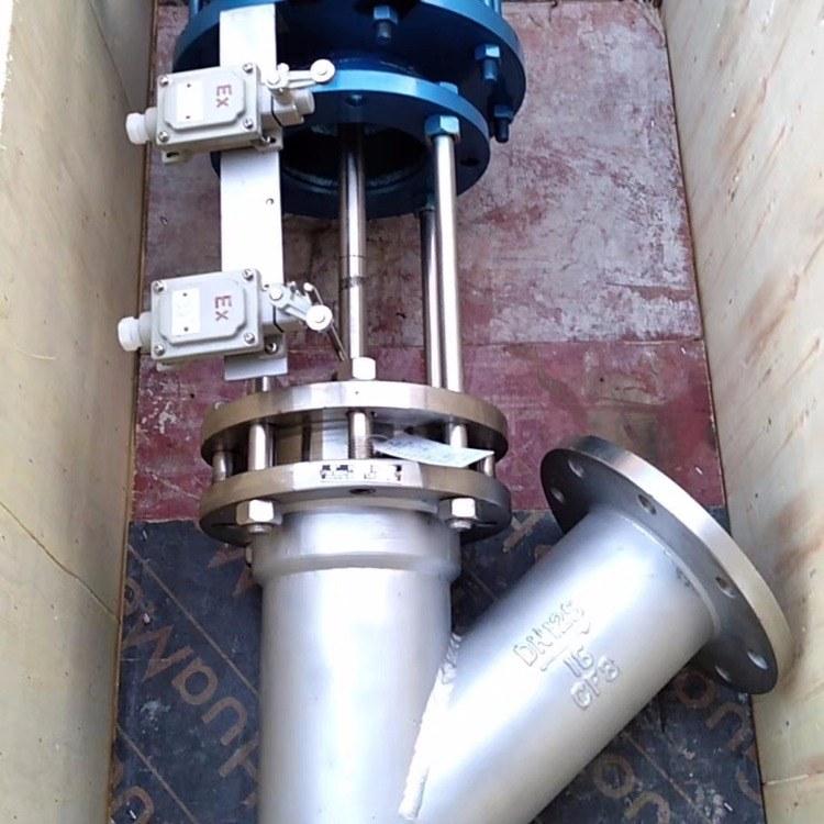 厂家直销 下展式放料阀DN350 不锈钢气动放料阀 Y型卸料阀