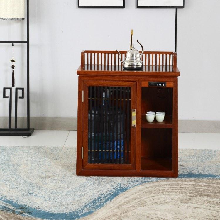 协艺家具红木茶水柜餐边柜非洲花梨木客厅茶水柜实木置物柜酒水架玄关柜子