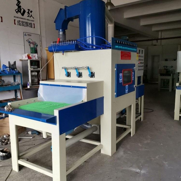 深圳自动喷砂机厂家供应通过式自动喷砂机铁板除锈去油漆喷砂机