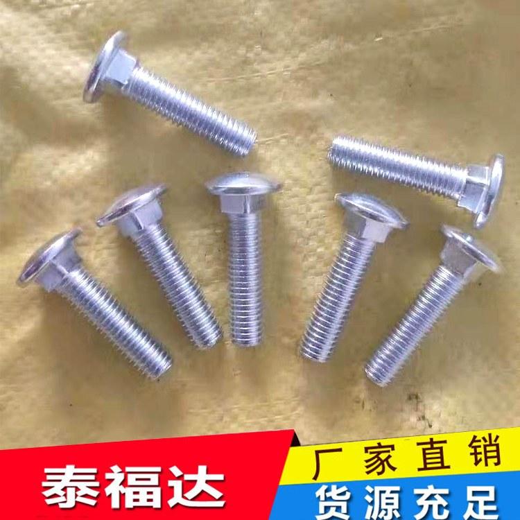 泰福达生产六角/8.8级外六角镀锌螺栓 镀锌加长/ 发黑六角螺丝