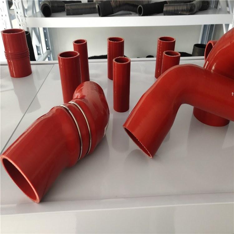 可生产加工红色夹布钢丝硅胶管 耐高温汽车硅胶管 尼龙布伸缩软管 欢迎选购