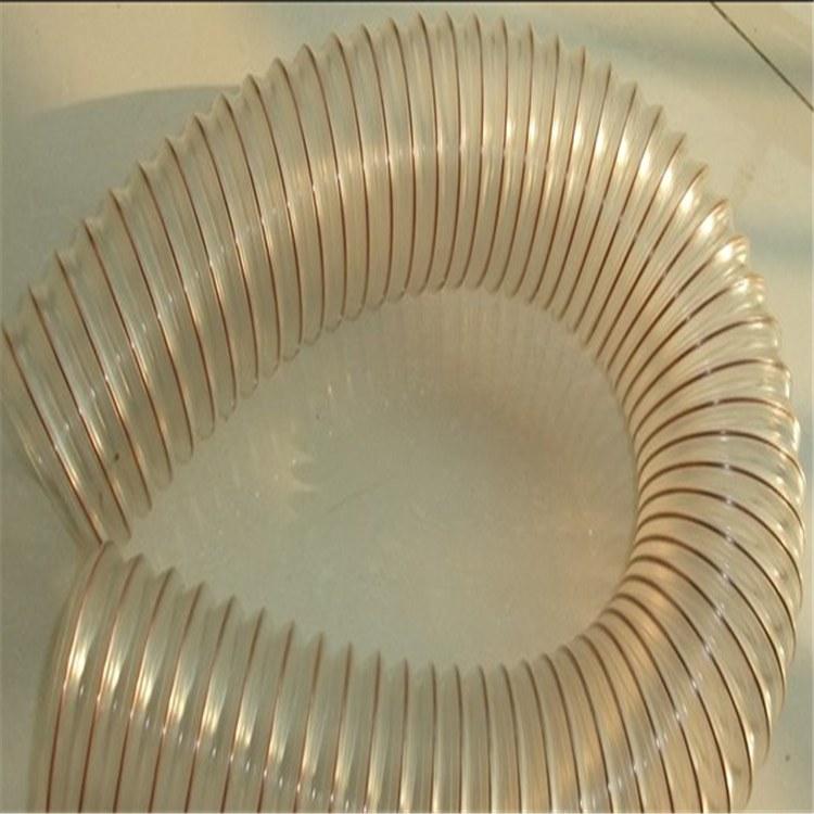pu聚氨酯伸缩管 pu透明伸缩管 内加螺旋钢丝骨架胶管技术参数
