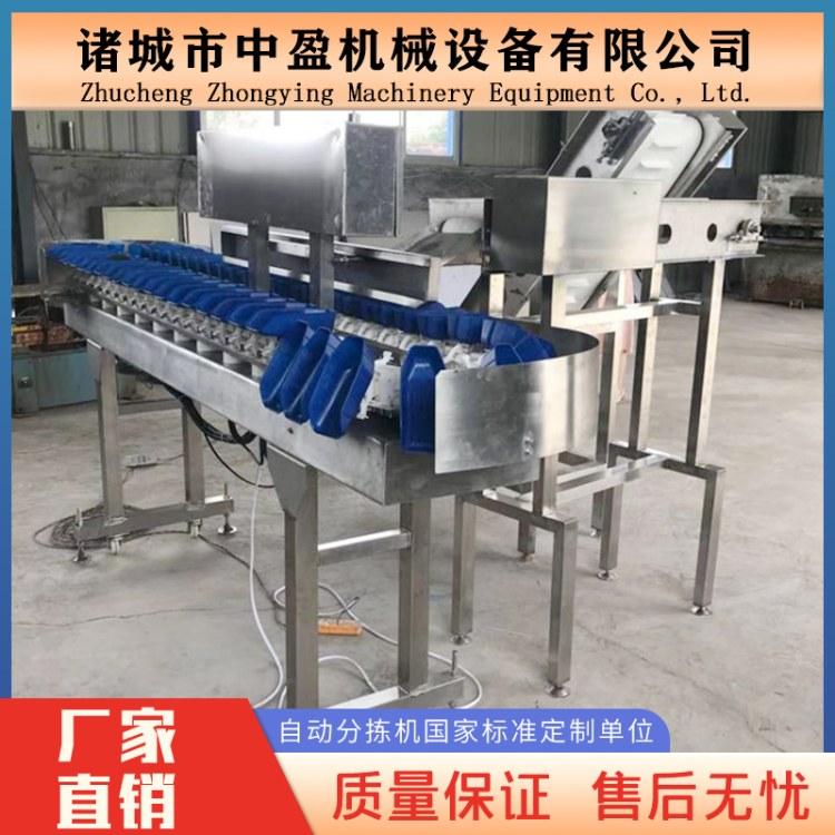 厂家直销中盈 自动重量分选机 鸡块称重分拣机 自动分级机
