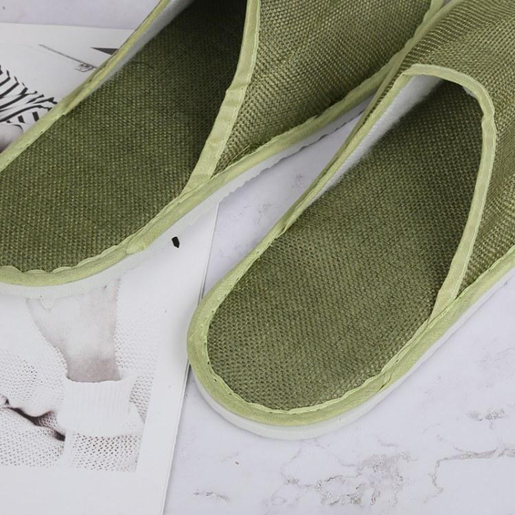 【厂家直销】Yilanmei 高档酒店宾馆一次性拖鞋 麻布面料 量大优惠