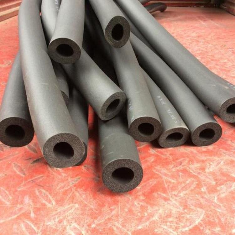 河北皎阳保温橡塑管 B1级阻燃隔热空调橡塑管   管状防火防水防潮保温管道