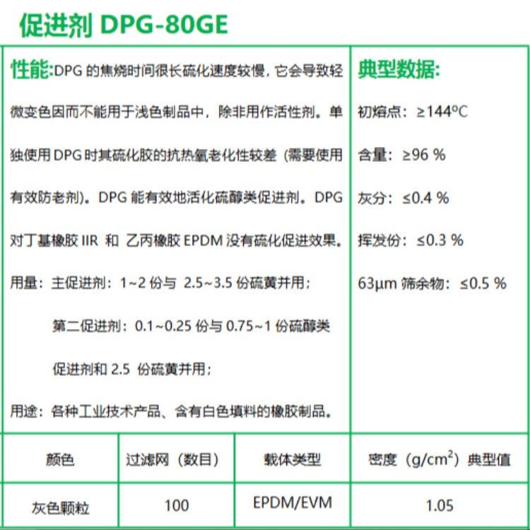 东莞 中山 江门  珠海 促进剂DPG-80GE 总代批发 报价价格 专业可靠 品质保障